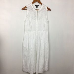 J. Crew Dresses - J Crew Eyelet Shirtdress in White
